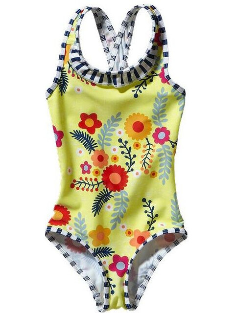 Patagonia Baby Qt Swimsuit Folk Floral: Mayan Yellow